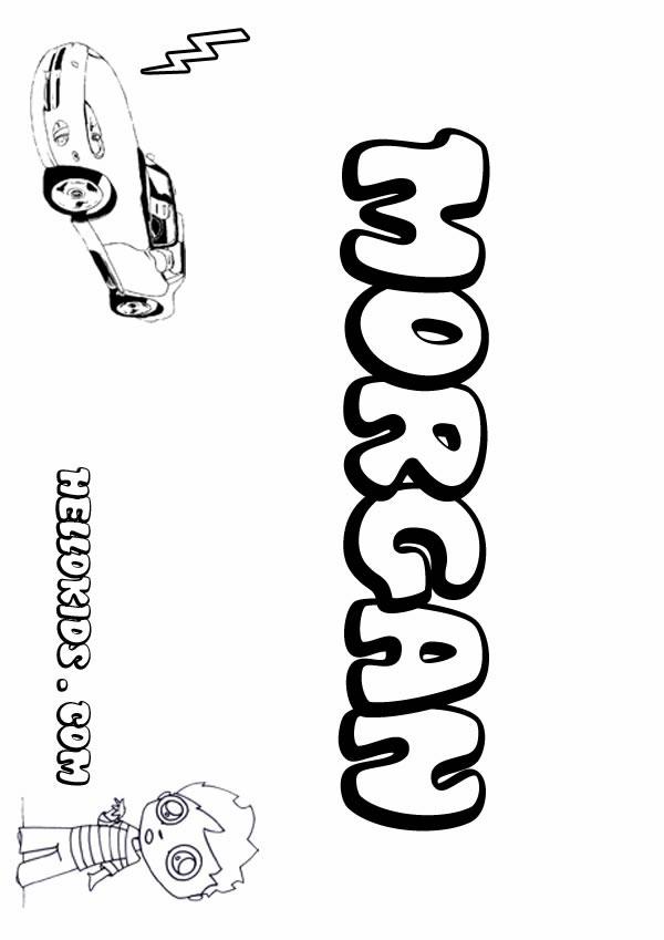 morgan coloring pages - photo#1