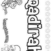 Qadirah - Coloring page - NAME coloring pages - GIRLS NAME coloring pages - O, P, Q names fo girls posters
