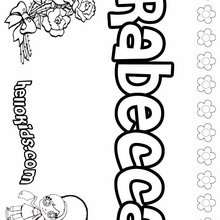Rabecca - Coloring page - NAME coloring pages - GIRLS NAME coloring pages - R names for girls coloring posters