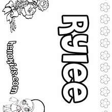 Rylee - Coloring page - NAME coloring pages - GIRLS NAME coloring pages - R names for girls coloring posters