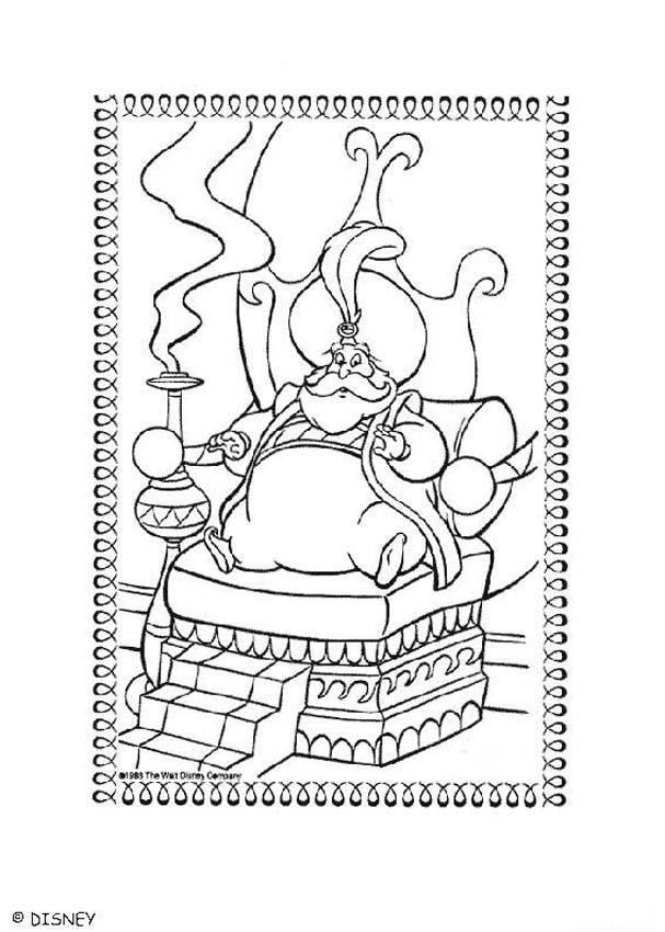 Sultan coloring page