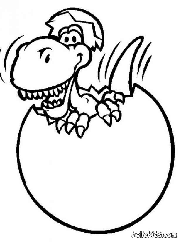 dinosaur coloring pages to print for kids cute cartoon - Cute Baby Dinosaur Coloring Pages
