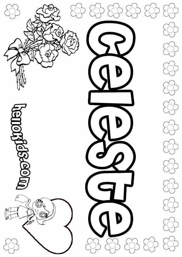 girl names coloring pages - photo#27