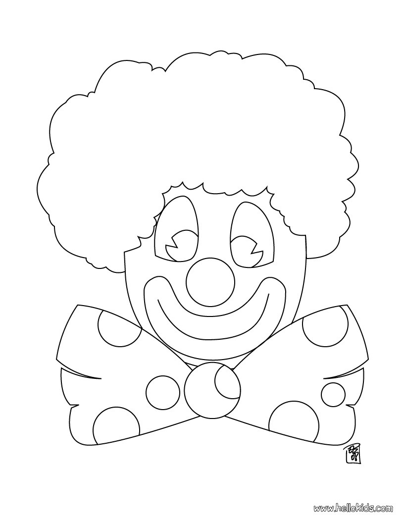 Clown coloring pages - Hellokids.com