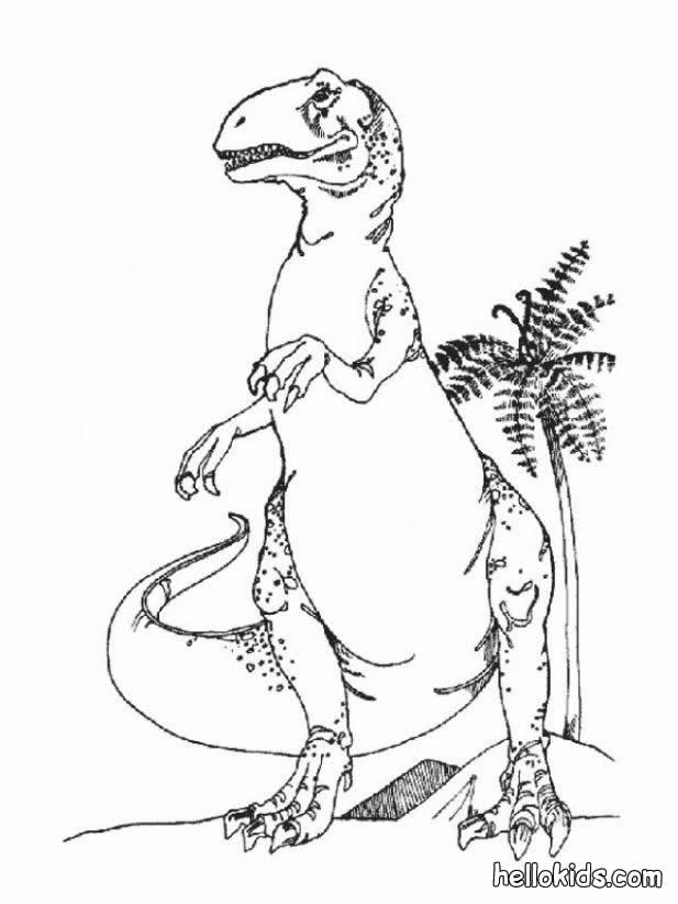 Brachiosaurus Dangerous Tyrannosaurus Coloring Page