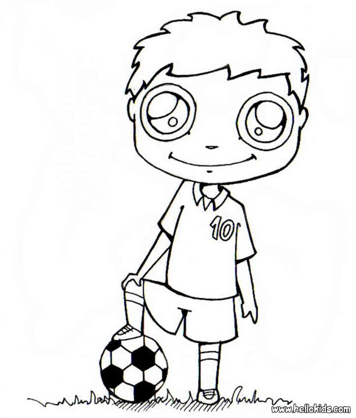 Soccer Player Coloring Pages Hellokids Com Soccer Coloring Pages Messi