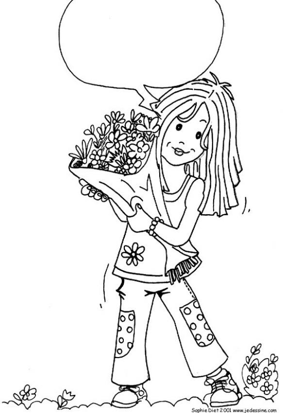 Bunch greeting card coloring page