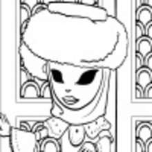Girl wearing costume online coloring page - Coloring page - COLOR ONLINE - COSTUME PARTY online coloring pages