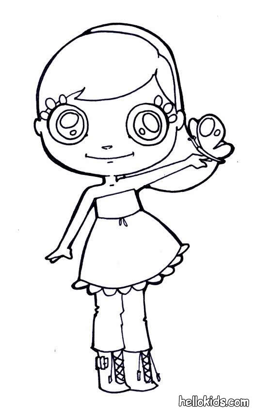 Lovely girl coloring page
