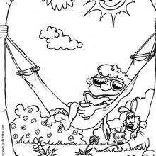 Hammock coloring page