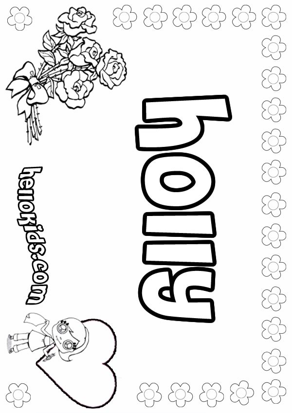 coloring pages holly - photo#23