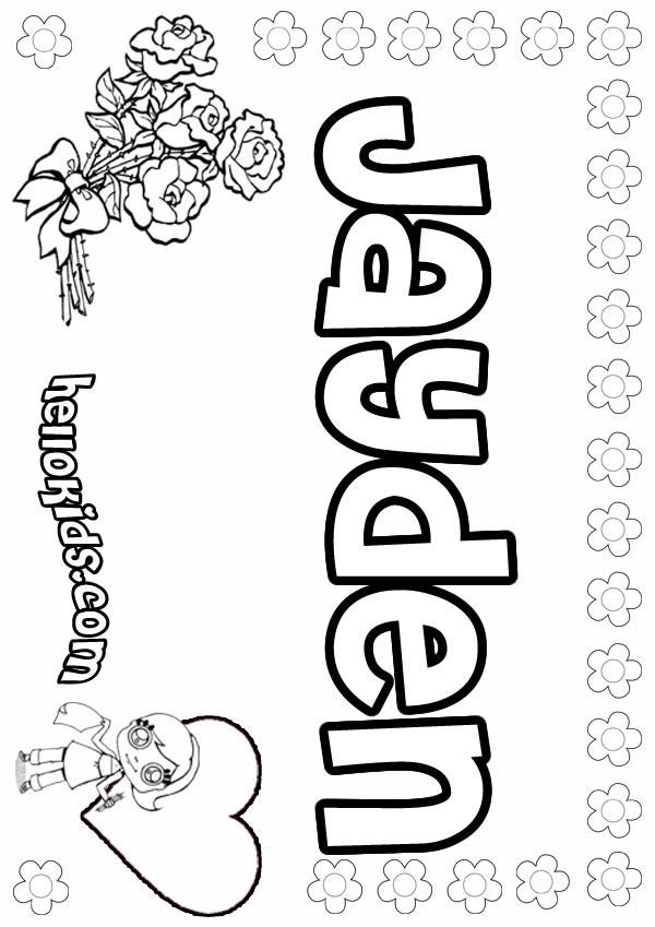 Jayden coloring pages - Hellokids.com
