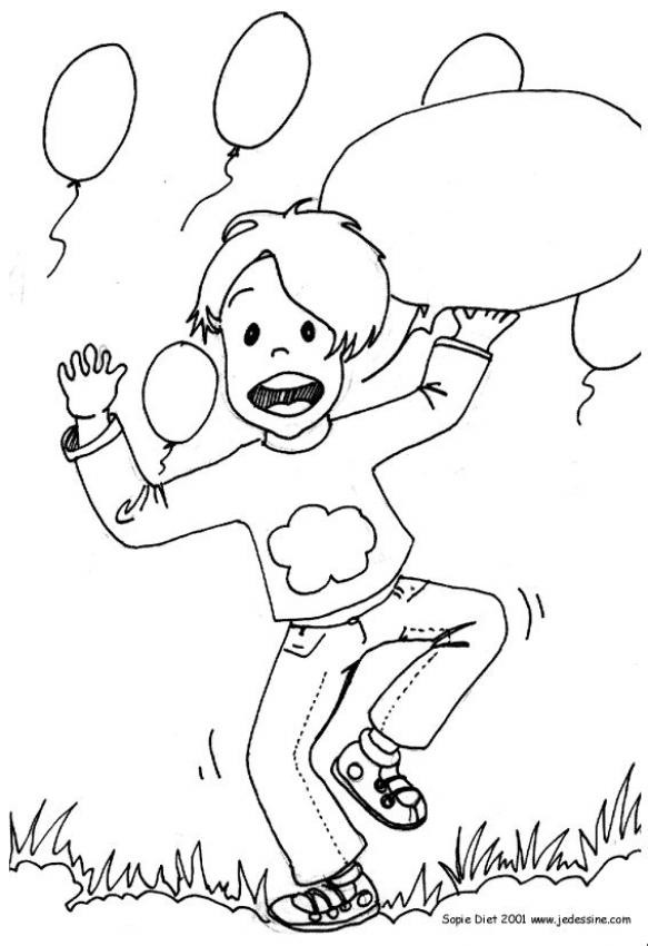 Happy day coloring page