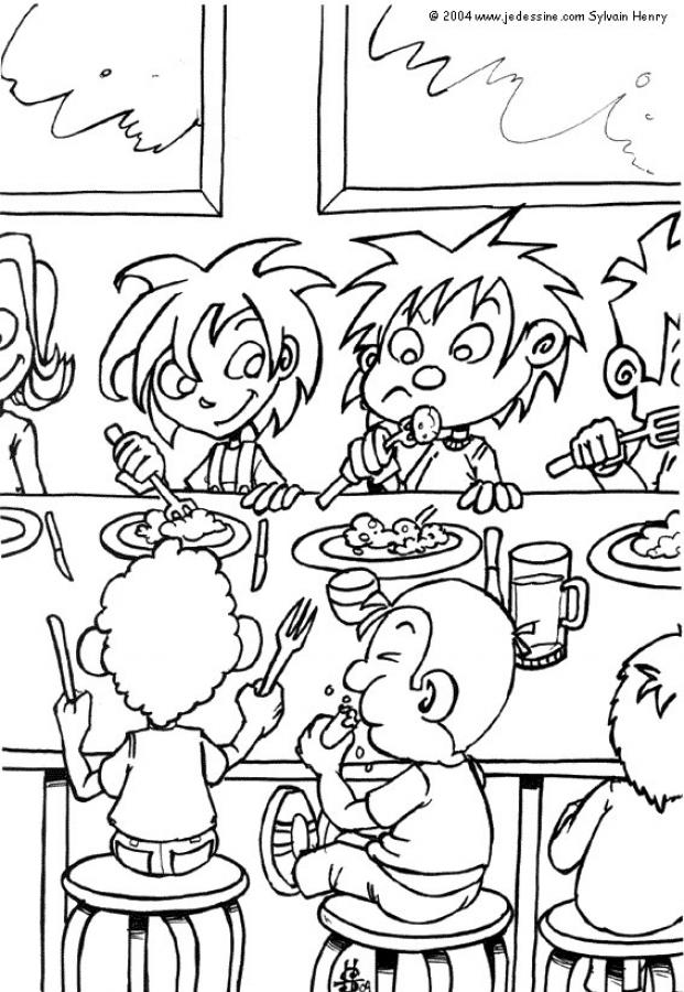 school lunch bag coloring pages - photo#34