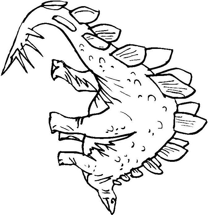stegosaurus coloring pages  prehistoric stegosaurus