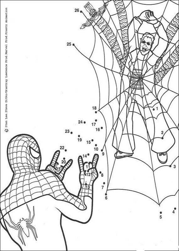 Dot to dot: spiderman game coloring pages - Hellokids.com