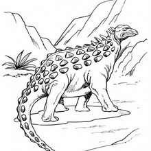 Strange ankylosaurus coloring page - Coloring page - ANIMAL coloring pages - DINOSAUR coloring pages - Allosaurus, Ankylosaurus coloring pages