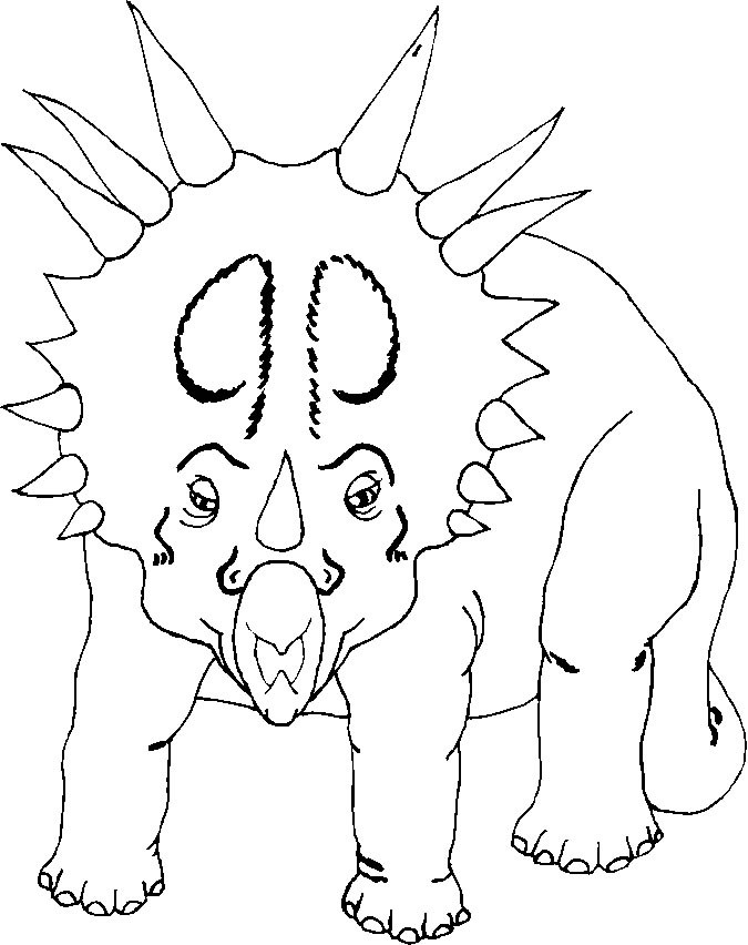 TRICERATOP Coloring Pages