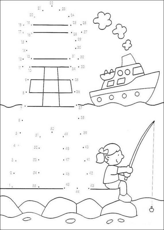 DOT TO DOT games - 21 free dot to dot printable worksheets for kids