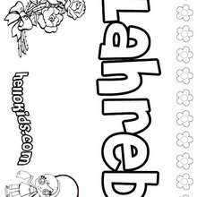 Lahreb - Coloring page - NAME coloring pages - GIRLS NAME coloring pages - L girl names coloring posters