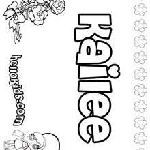 Kailee - Coloring page - NAME coloring pages - GIRLS NAME coloring pages - K names for girls coloring posters