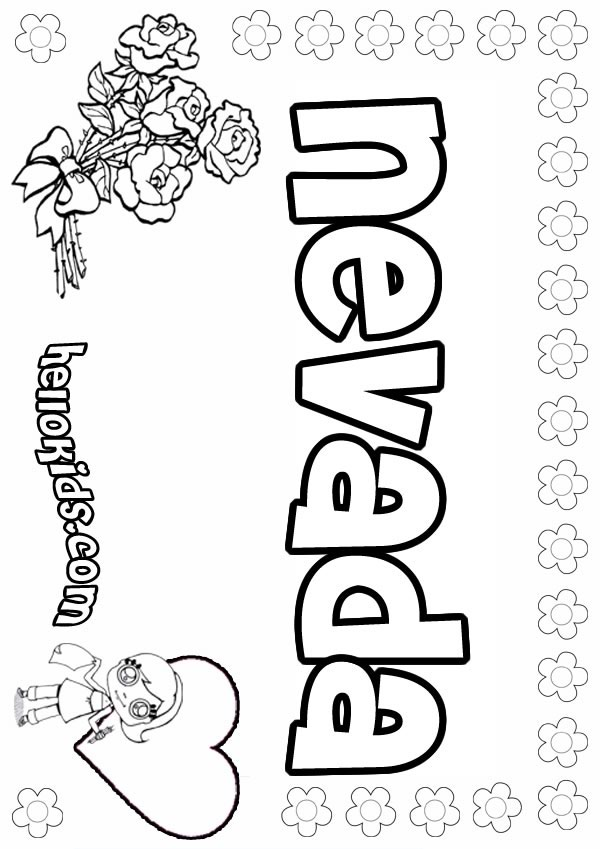 Nevada Coloring Pages Hellokids Com