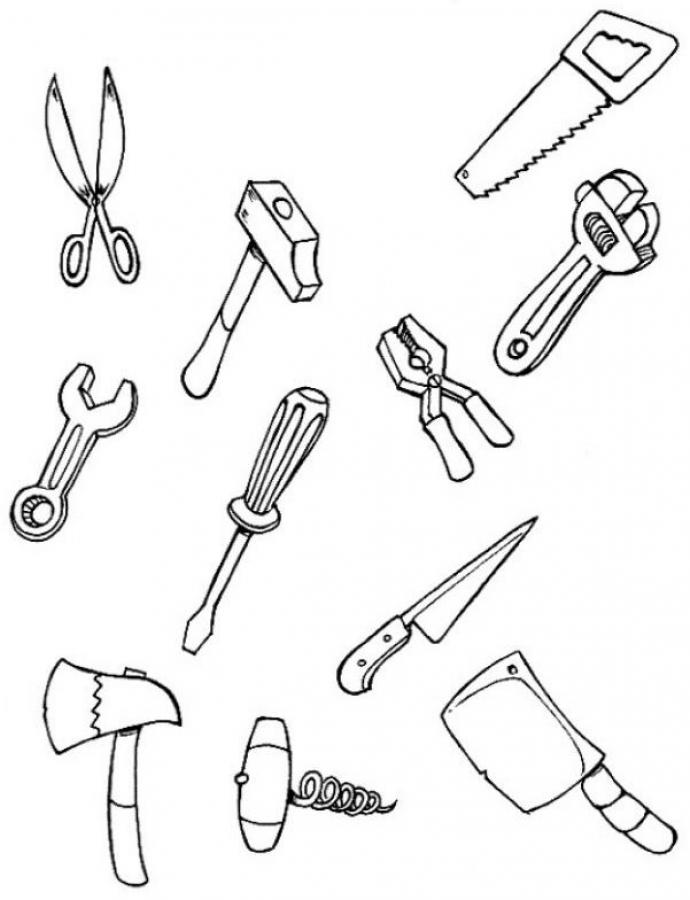 tools-coloring-page