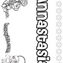 Annastasia - Coloring page - NAME coloring pages - GIRLS NAME coloring pages - A names for girls coloring sheets