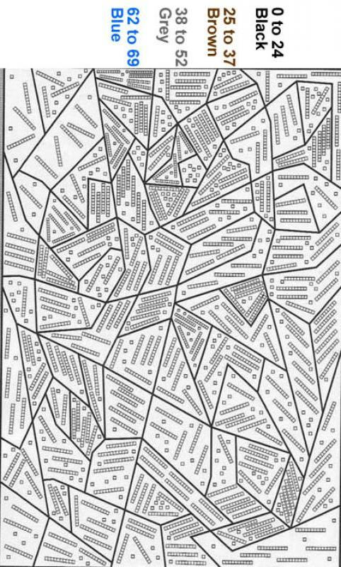 Black point Color by number coloring page