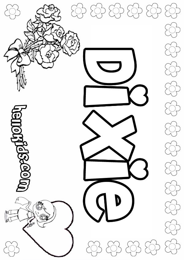 D names for GIRLS free coloring sheets - 0 printables to create your ...