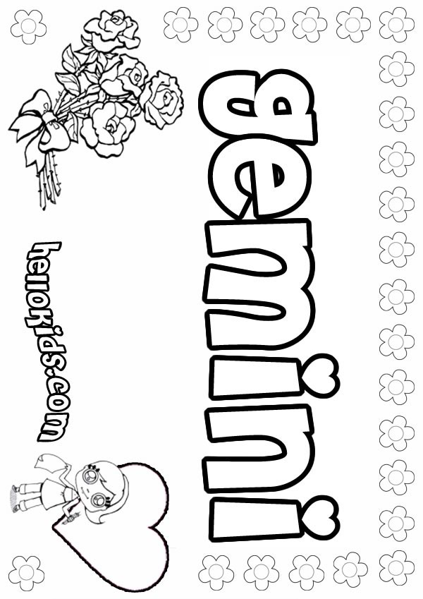 Gemini Zodiac Sign Coloring Page Adult likewise Free Printable Zodiac ...