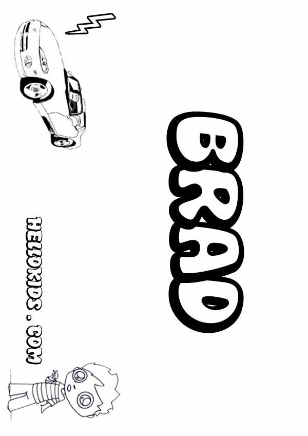 Brad coloring pages  Hellokidscom