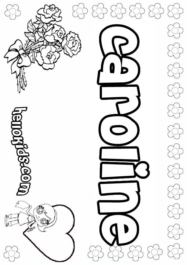 Caroline coloring pages Hellokids