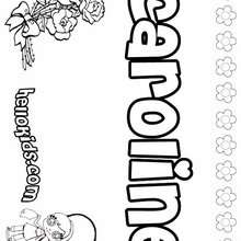 caroline coloring pages - photo#1
