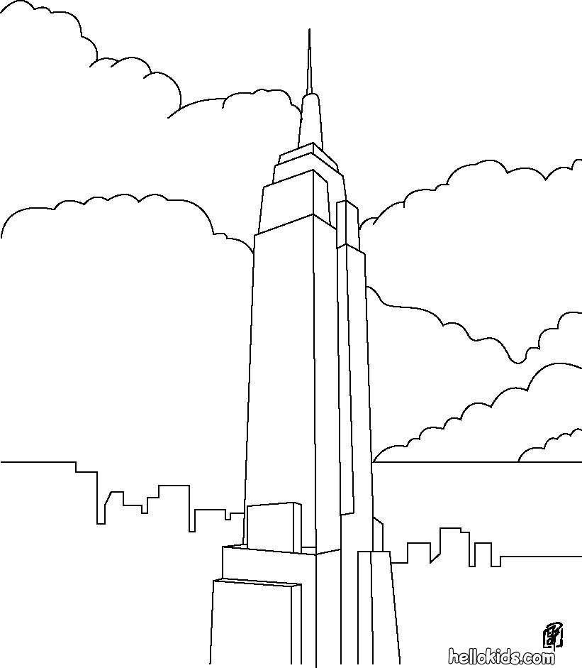 the united states symbols coloring pages empire state