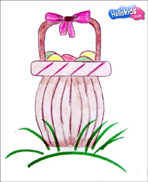 how-to-draw-easter-basket-with-eggs