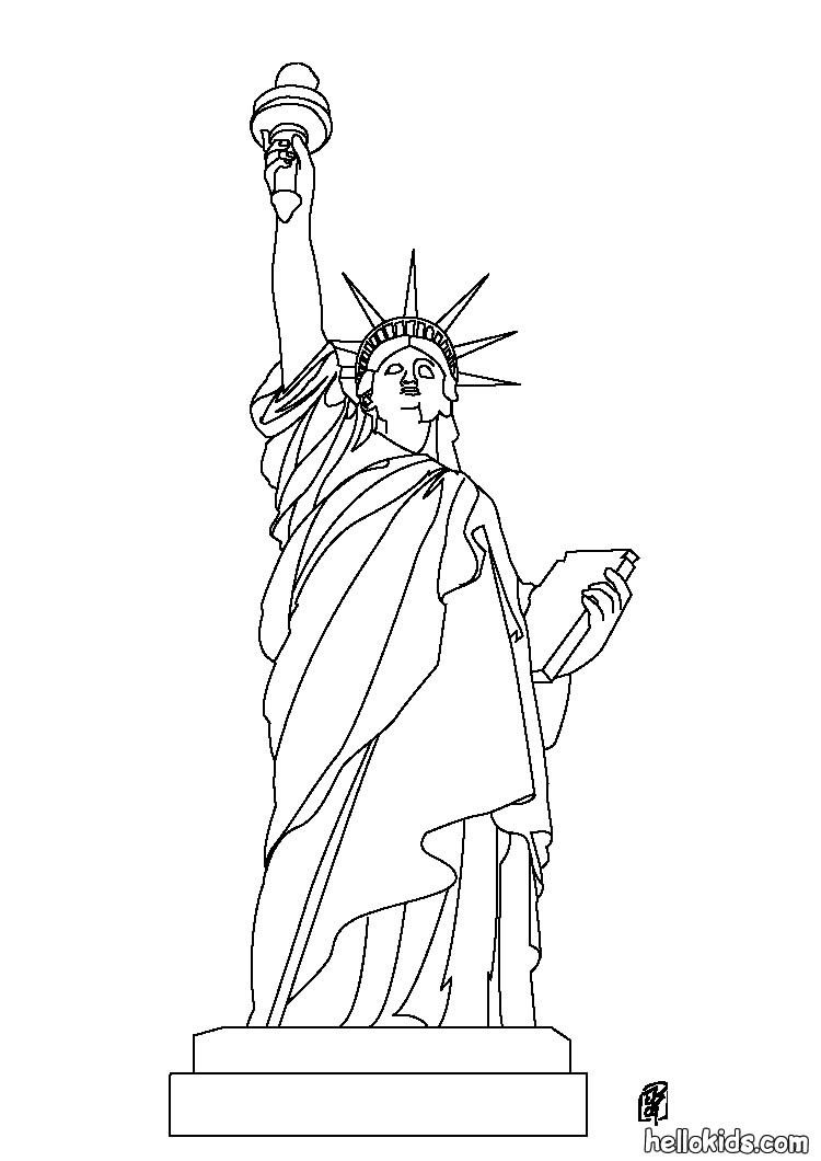 THE UNITED STATES symbols coloring