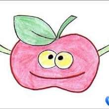 How to draw granny smith apple - Hellokids.com