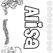 Alexis coloring pages - Hellokids.com