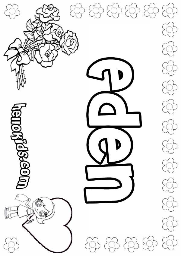 Eden coloring pages Hellokids