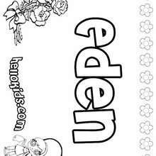 coloring pages eden - photo#33