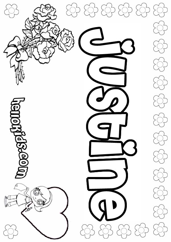 girl names coloring pages - photo#16