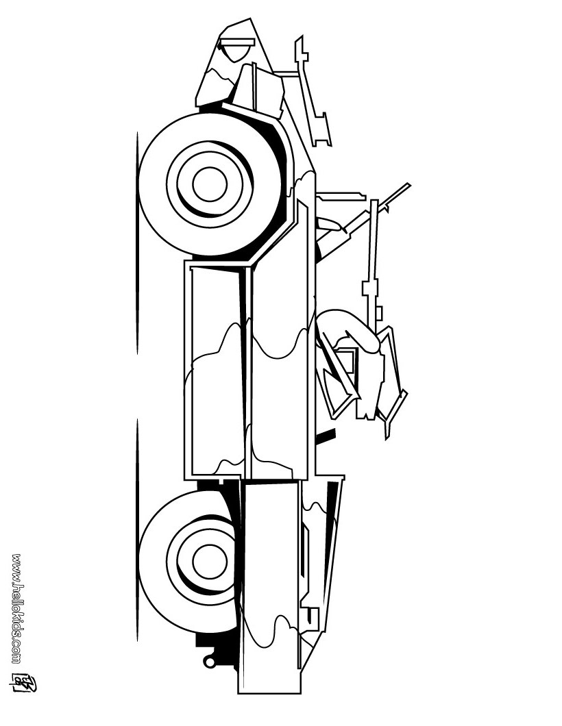 army vehicles coloring pages print - photo #25