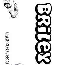 Briley - Coloring page - NAME coloring pages - BOYS NAME coloring pages - B names for Boys free coloring book