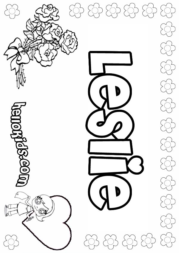Leslie Coloring Pages Hellokids Com Name Coloring Pages To Print Out