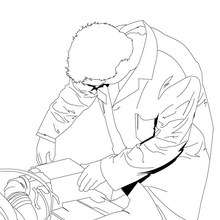 Mechanic coloring page - Coloring page - JOB coloring pages - MECHANIC coloring pages