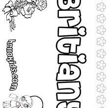 Britiany - Coloring page - NAME coloring pages - GIRLS NAME coloring pages - B names for girls coloring sheets