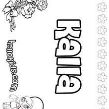 Kalla - Coloring page - NAME coloring pages - GIRLS NAME coloring pages - K names for girls coloring posters