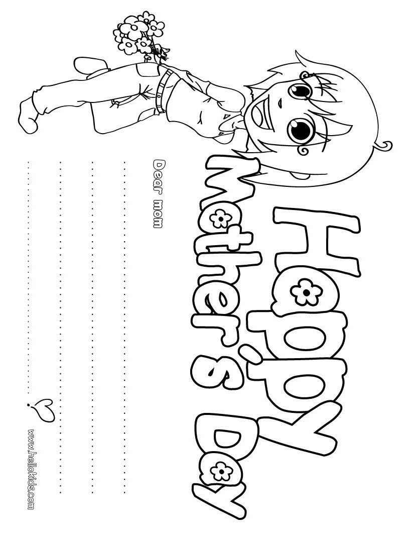 Fun 4 The Children Mother S Day Coloring Pages Part Ii