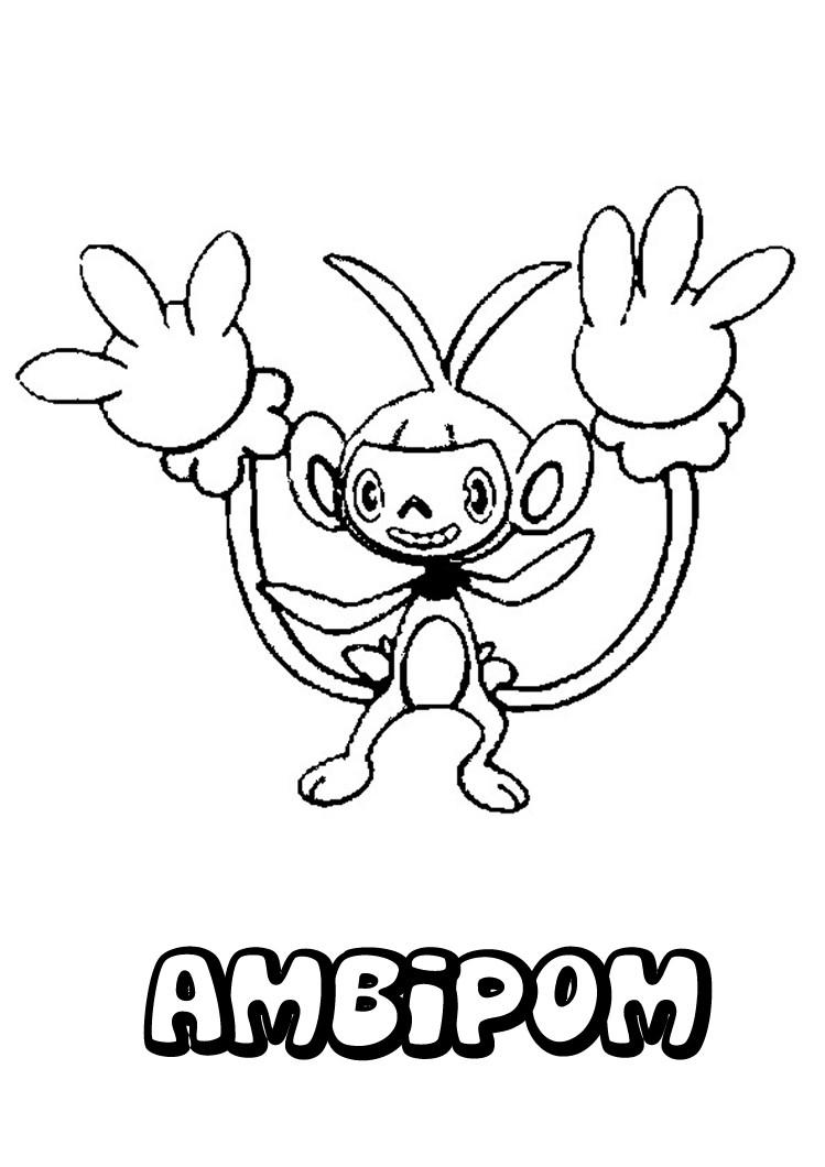 Ambipom Pokemon Coloring Page